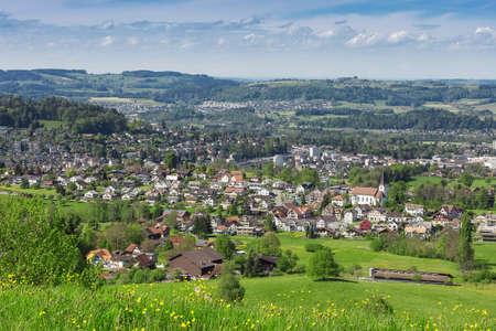 st  gallen: paisaje de la aldea en st. Gallen Foto de archivo