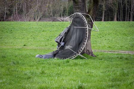 Storm Damage Trampoline