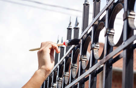 hand drawing fence