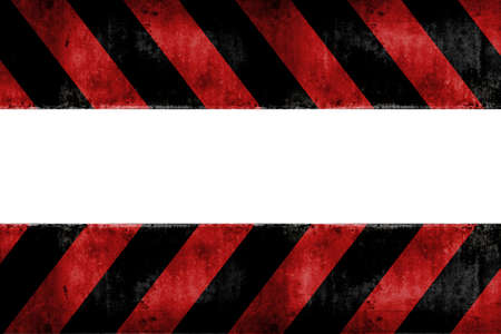 black stripes: Isolated warning zone pattern in red and black stripes