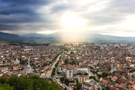 viewpoint to the city of prizren, kosovo