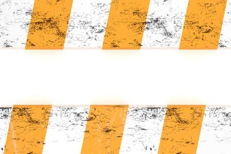hazard stripes: Isolated warning zone pattern in orange and white stripes