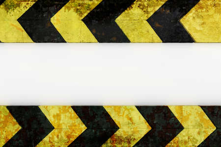 Warnung Gefahr Grunge Muster in gelb und schwarz Farbe