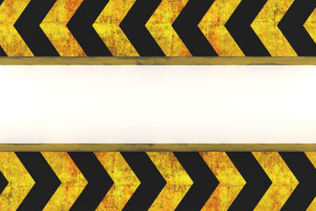 warning hazard grunge pattern in yellow and black color on white background