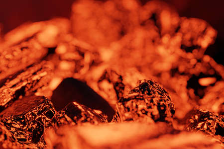 3d rendering of glowing ember from close-up shot