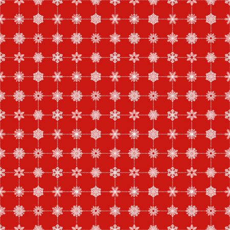 let it snow: A snowflakes seamless pattern in white and red background for Christmas holiday.