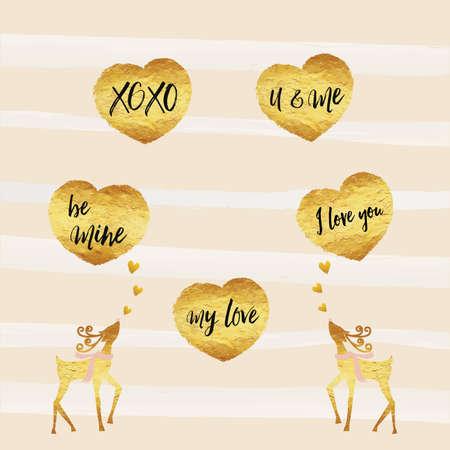 Valentine, Happy Valentinstag-Karte Goldfolie Textur Herzförmige ...