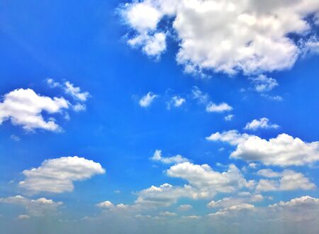 Blue sky with cloudy in Bangkok Thailand Stock Photo