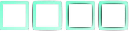 Aquamarine Blue and White Colour Full Shadow Square App Icon Set Stock Vector - 19973445