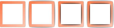 operating system: Coral Orange and White Colour Full Shadow Square App Icon Set Illustration