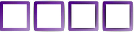 operating system: Indigo Purple and White Colour Full Shadow Square App Icon Set