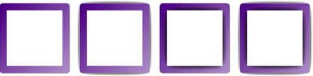 ios: Indigo Violet et Blanc Couleur Ombre Rectangle Carr� App Icon Set Illustration