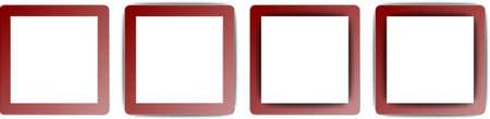 ios: Bordeaux rouge et blanc polychrome Ombre Place App Icon Set