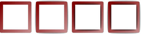 operating system: Maroon Red and White Colour Full Shadow Square App Icon Set