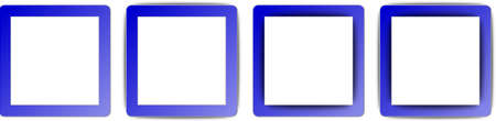 operating system:  Medium Blue and White Colour Full Shadow Square App Icon Set