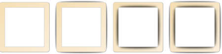 Wheat Brown and White Colour Full Shadow Square App Icon Set Vector