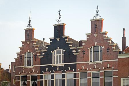階段状破風、ドルドレヒト, オランダと 3 つの歴史的な家