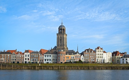 View of the medieval Dutch city Deventer with the Great Church Imagens