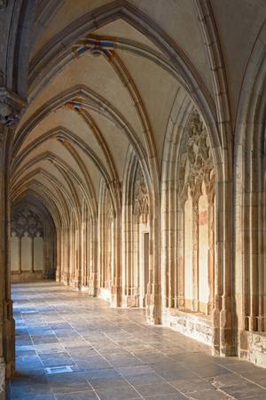 ユトレヒト、オランダでの Pandhof の中世の回廊 写真素材