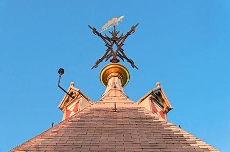 Weather vane of Saint Maarten on top the Domtoren, Utrecht.