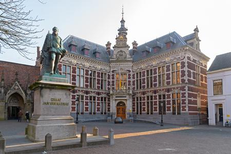 ユトレヒト、ネザーランド、2017 年 1 月 26 日 - Academiegebouw: ユトレヒト大学ホール大学とカウント - グラーフ ・ ヤン ・ ヴァン ・ Dom スクエアのナッ