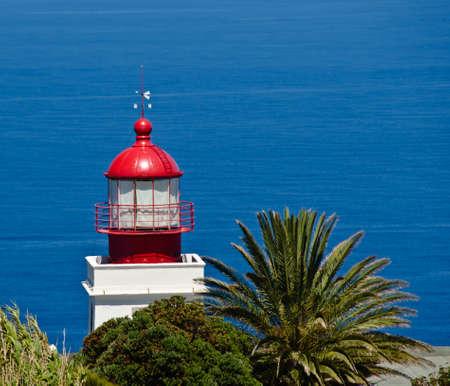 Unique view of the cliffs and the lighthouse of Ponta do Pargo, Madeira, Portugal, Europe