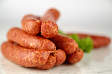 air dried: sausages