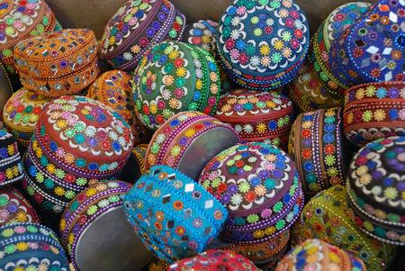 of miniature: Colourful, miniature boxes