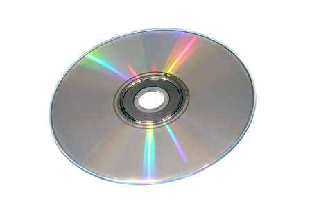 Compact disc on a white background close up Stock Photo