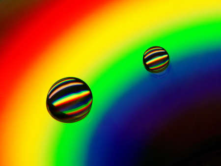 Drops of water on a compact disc Stock Photo