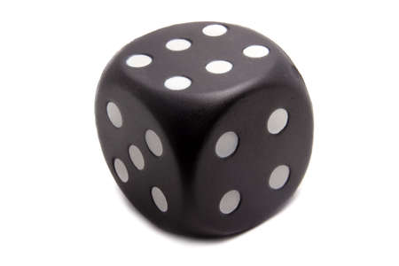 Big black dice on a white background