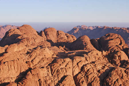Morning on Moses mountain  Stock Photo