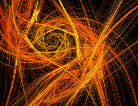 Abstract fractal fire vortex background (computer rendered)