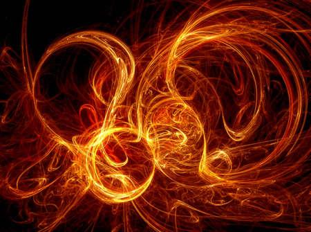 zelektryzować: Wygenerowane komputerowo Fractal kręgu ognia (wysokiej rozdzielczości) Zdjęcie Seryjne