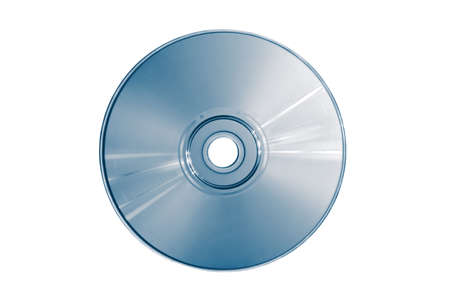 gigabyte: Compact disc on a white background close up Stock Photo