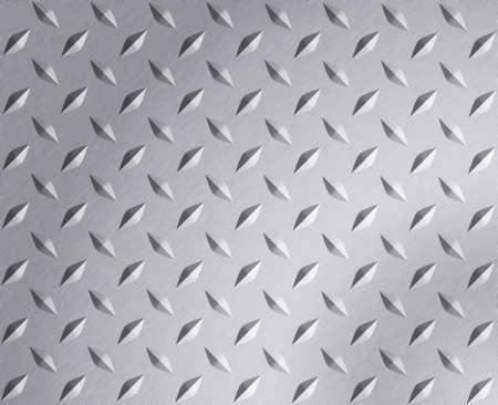 Diamond plate metal texture