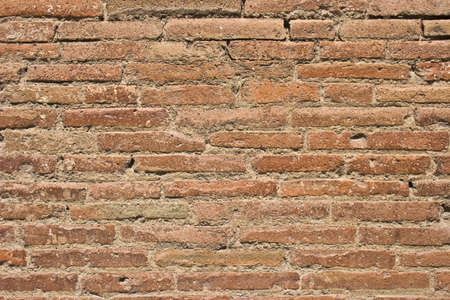 The obsolete red brick wall Stock Photo - 5380379