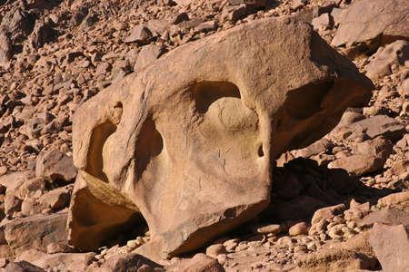 A big amazing rock on Moses mount, Egypt
