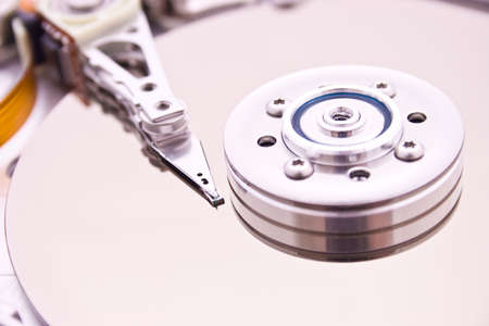 HDD Hard Disk Drive (inside view) Stock Photo