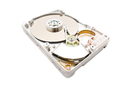 HDD Hard Disk Drive isolated over white
