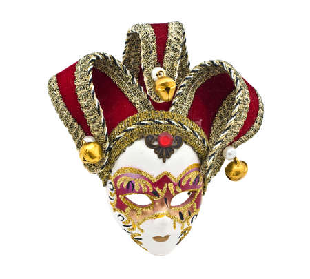 Venetian mask isolated over white