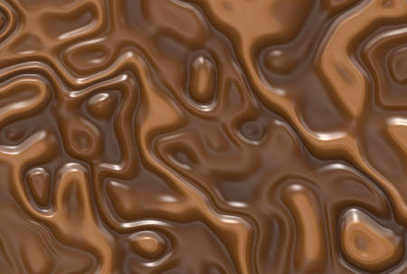 Abstract milk chocolate swirls background Stock Photo