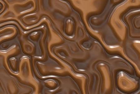 Abstract milk chocolate swirls background Standard-Bild