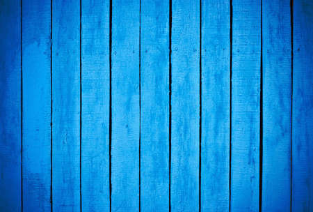 old fence: Blue painted wood background