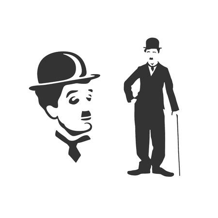 Vectorized portraits of Charlie Chaplin