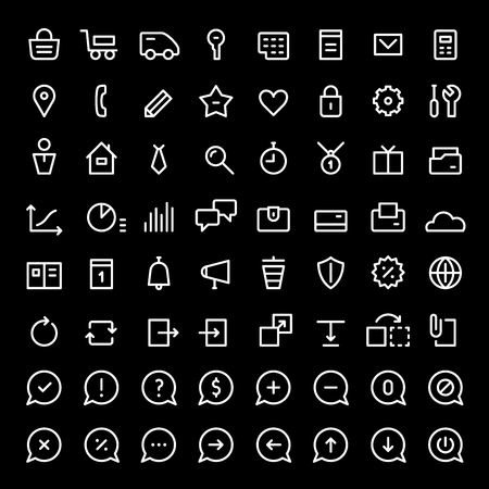 news update: 64 mni icons for web services and online shops