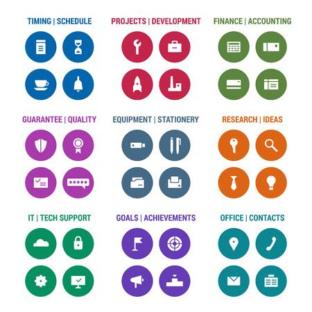 corporative: Icons set of corporative area. Color 3.
