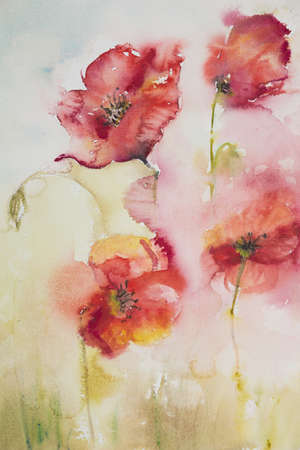 trio: Poppies in the mist