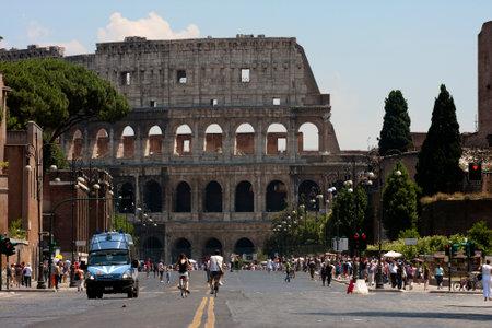dei: Via dei Fori Imperiali on a car-free Sunday