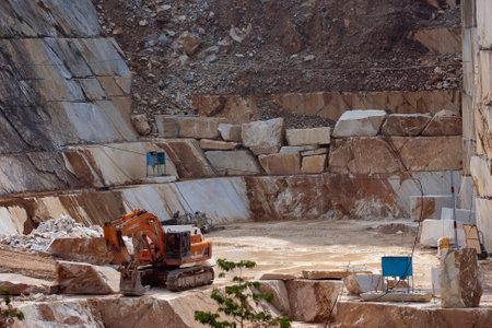 carrara: Exploitation in a marble quarry near Carrara